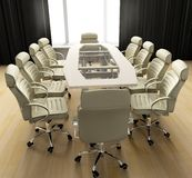 Table of negotiation. At office in Verde 3d image Stock Photo