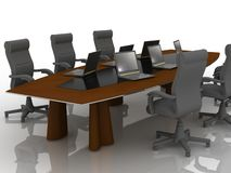 Table for negotiations Royalty Free Stock Photography