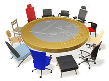 Table for negotiations Stock Photo