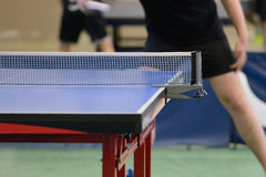 Table with net for table tennis Royalty Free Stock Photo