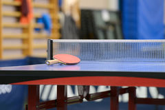 Table with net for table tennis Stock Photos