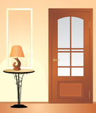 Table Night Lamp. Fragment Of Living Room Royalty Free Stock Photo