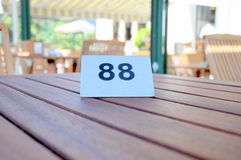 Table number Royalty Free Stock Photo