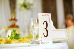 Table Number Stock Photo