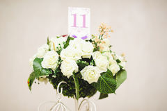 Table Number in Roses Royalty Free Stock Image