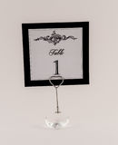 Table Number Sign and Holder Royalty Free Stock Images