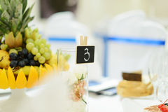 Table Number at Vase Royalty Free Stock Photo