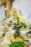 Table number, wedding decor Royalty Free Stock Photography