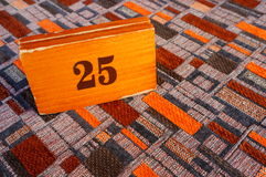Table number Royalty Free Stock Photography