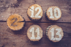 Table Numbers Royalty Free Stock Image