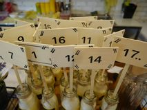 Table numbers Royalty Free Stock Photo