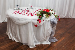 Table Of The Bride & Groom Stock Photography