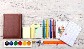 Table with office objects. Stock Photography