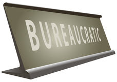Table office signs bureaucratic Stock Images