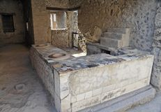Table and Ovens Pompeii royalty free stock images