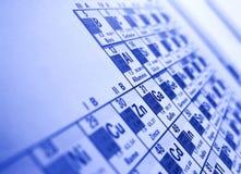 Table périodique image libre de droits