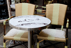 Table of Parisian street cafe Royalty Free Stock Images