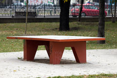 Table in a park Royalty Free Stock Photos