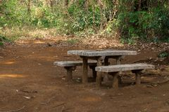 Table on park stock photography
