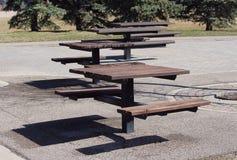 Table patterning at Central Park Regina Saskatchewan Stock Photography