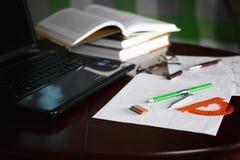 Table pencil divider Royalty Free Stock Photos