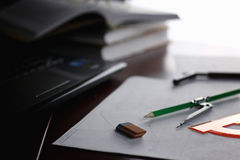 Table pencil divider Royalty Free Stock Image