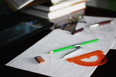 Table pencil divider Stock Images