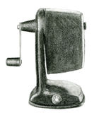 Table pencil sharpener sketch drawing Stock Images