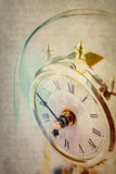 Table period clock with oscillating mechanism Royalty Free Stock Photos