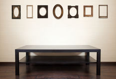 Table and photo-frames Royalty Free Stock Images