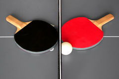 Table ping pong with rackets Royalty Free Stock Photography