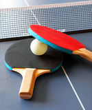 Table ping pong with rackets Stock Photography