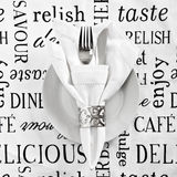 Table place setting Stock Image