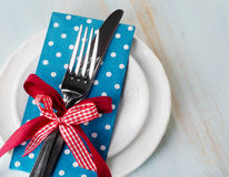 Table place setting Stock Photography