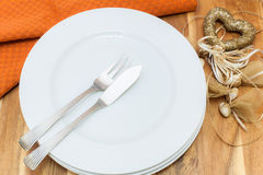 Table place setting for Valentines day Stock Images