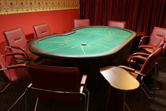Table for poker royalty free stock images
