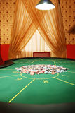 Table for poker Stock Images