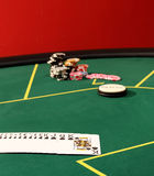 Table for poker Royalty Free Stock Photography