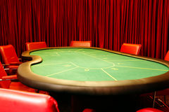Table for poker Royalty Free Stock Photos
