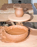 Table pottery workshop Royalty Free Stock Photos