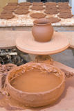 Table pottery workshop Stock Image