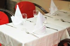 Table préparée Photo libre de droits