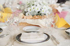 wedding reception tables Royalty Free Stock Image