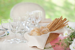 wedding reception tables Stock Images