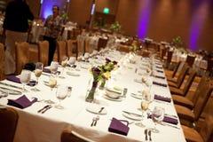 Table principale de réception de mariage Images stock