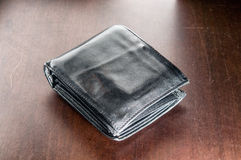 Table purse with money Royalty Free Stock Photo