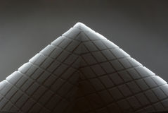 Table pyramid. The peculiar pyramid carved from plaster Royalty Free Stock Photography