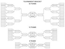 Table of quarter-final playoff sports games competitions.. Tournament bracket for 32, 16 and 8 teams. Blank vector scheme on a white background. Table of Stock Photography