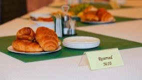 Table réservée Images stock