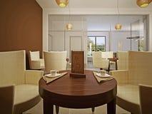 Table réservée dans un restaurant Photographie stock